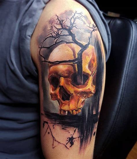 tattoo pictures skulls 99 gnarly skull tattoos that will make you gawk