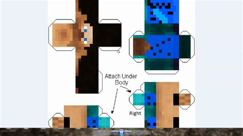 Minecraft Papercraft Tutorial - minecraft papercraft skin generator tutorial