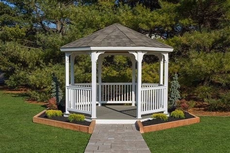 gazebo kit vinyl octagon gazebo kit amish made by yardcraft