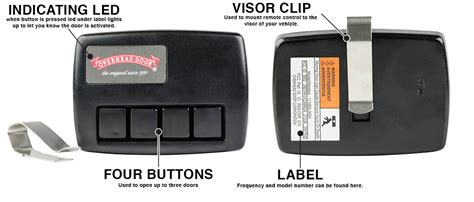 Overhead Garage Door Crusader 4 Button Remote 390mhz Crusader Garage Door Opener
