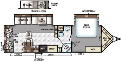 Fuzion Floor Plans Flagstaff V Lite Travel Trailers | flagstaff v lite travel trailers floor plans access rv