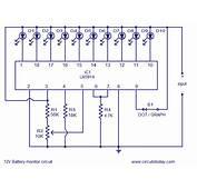LED Circuit Level Indicator 12V Battery Diagram
