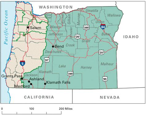 oregon state map oregon maps and info