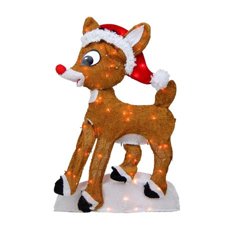 Rudolph Outdoor Decorations by 24 Quot Pre Lit 2 D Rudolph The Nosed Reindeer