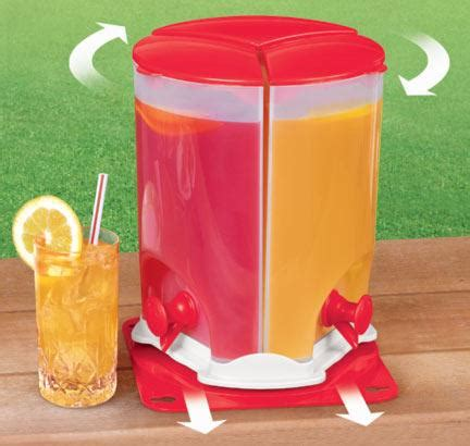 Dispenser Bekas 3 compartment drink dispenser with spin slide out feature