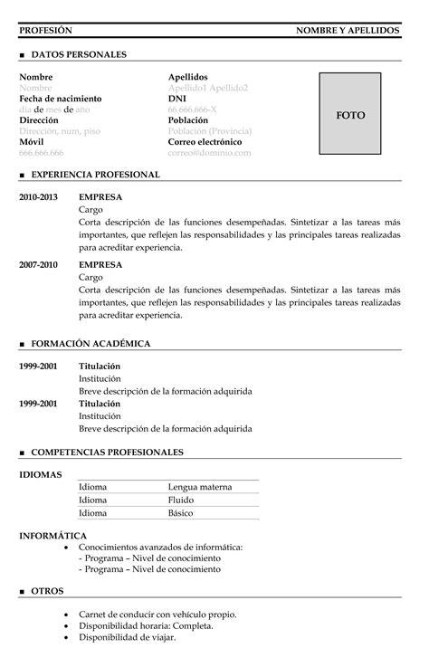 Plantilla De Curriculum Britanico C 243 Mo Se Hace El Curr 237 Culum Cronol 243 Gico Ejemplos De