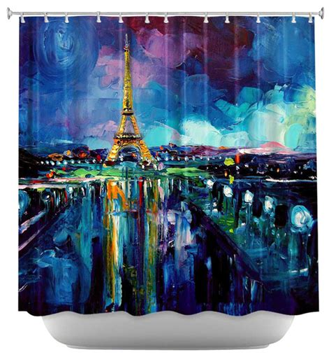 parisian shower curtain shower curtain artistic parisian night eiffel tower