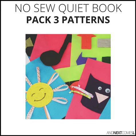quiet book patterns and next comes l
