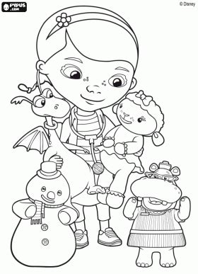 Doc Mcstuffins Happy Birthday Coloring Pages | doctor mcstuffins coloring pages doc mcstuffins coloring