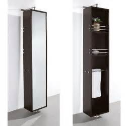 contemporary bathroom storage rotating wall cabinet wall floor mounted storage