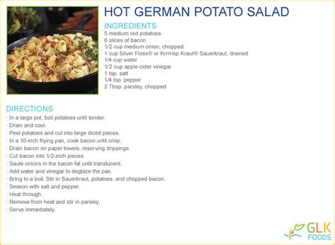 Potato Salad hot german potato salad