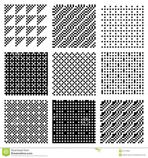 dither patterns stock vector image  monochrome dither