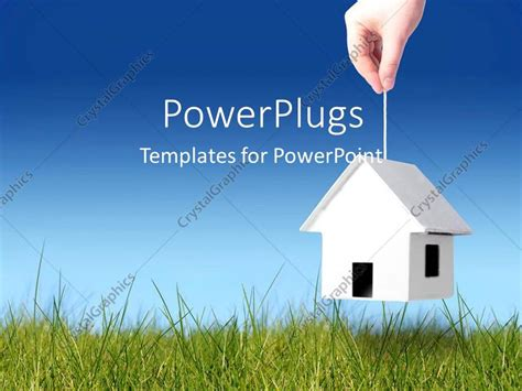 house powerpoint template powerpoint template a person picking the house with the