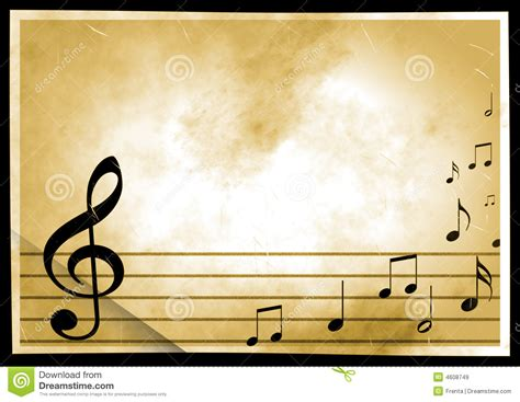 background with the image of musical symbols stock