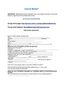 Sample Barter Agreement Template Bartering Agreement Fill Online Printable Fillable