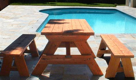 woodworking plans picnic table plans  separate benches
