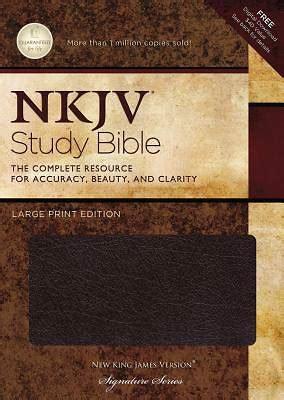 printable new king james version bible new king james version study bible large print edition