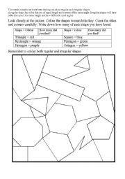 printable regular and irregular shapes regular and irregular polygons worksheets worksheets for