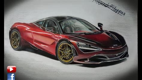 mclaren drawing mclaren 720s speed drawing