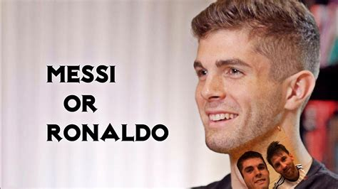 christian pulisic messi christian pulisic on messi and ronaldo must watch youtube