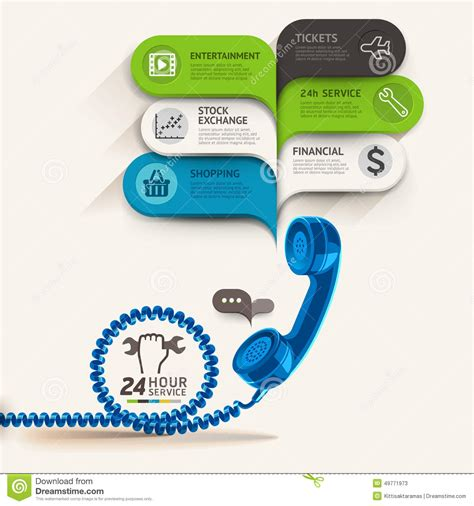 business service icons and telephone with bubble speech