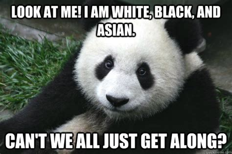 Black Asian Meme - black white asian panda memes