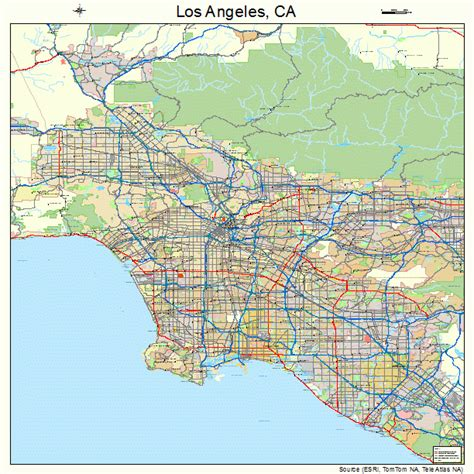 california map los angeles los angeles california map 0644000