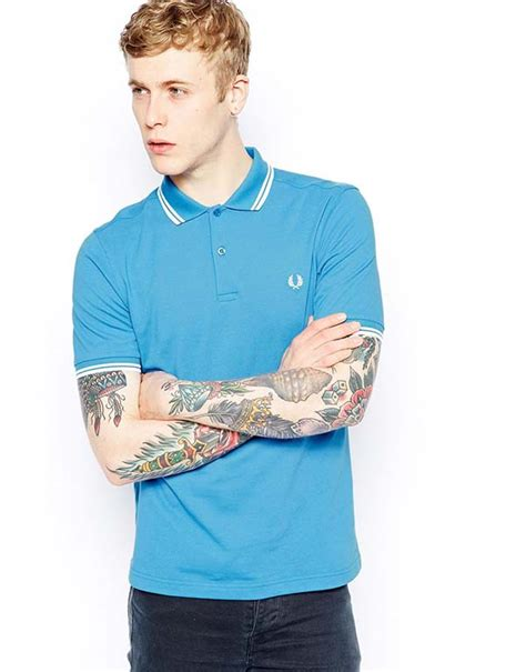 T Shirt Fred Perry Tag Logo studio fred perry polo with tip in