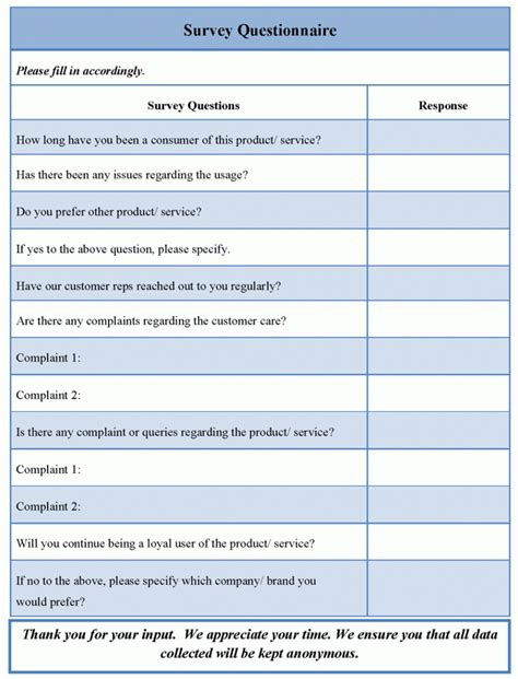 example of questionnaire questions sample sufficient see survey