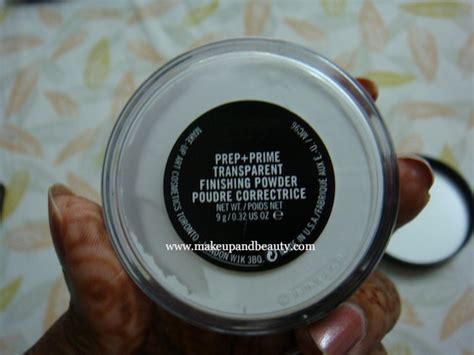 Mac Translucent Powder mac prep prime transparent finishing powder review