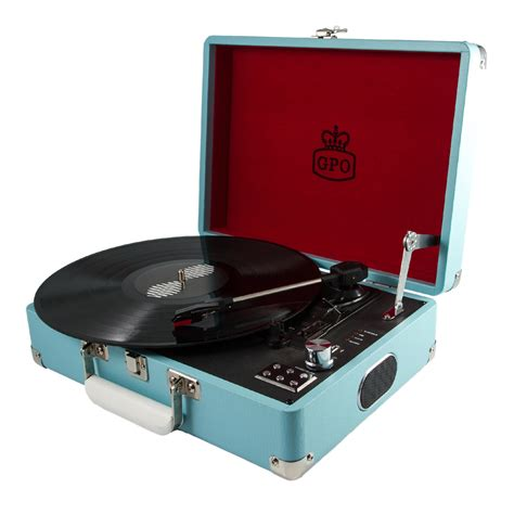 U K Records Sky Blue Gpo Attache Turntable Vinyl Record Player Australia Rockit Record