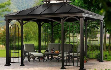 gazebo on patio breathtaking patio gazebo with metal roof on