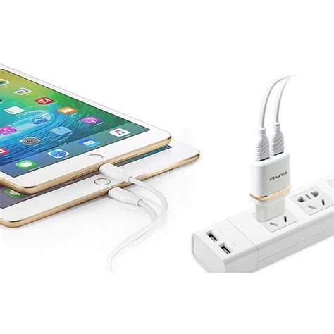 Travel Charger Usb 2port 2 1a 1a awei usb travel charger 2 port 2 1a eu c 930