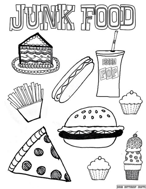 totally non crappy coloring book illustrated with crappy pictures books junk food 8 5 by11 coloring page junk food school
