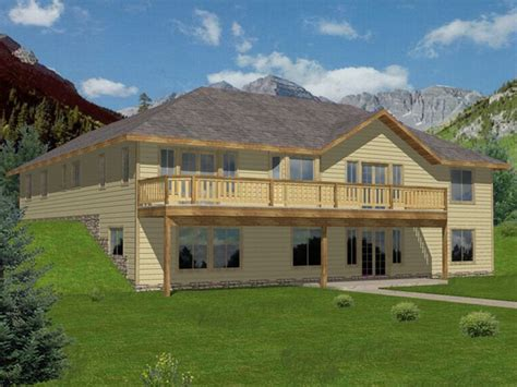 walkout basement house plans unique hillside home plans 7 lake house plans with