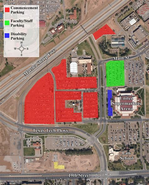 texas tech parking map parking areas for commencement commencement office of the provost ttu