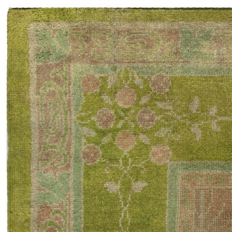 voysey rug arts and crafts voysey donegal rug in stunning green at 1stdibs