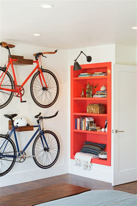 smart storage ideas for small spaces 30 smart storage ideas for small spaces 30 | Industrial Entryway With Smart Bike Storage