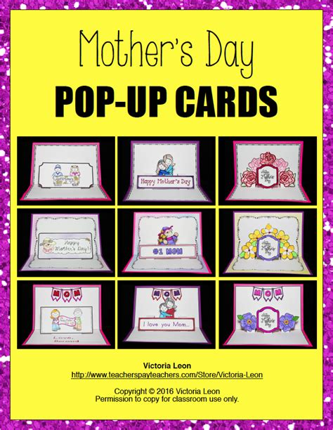 mothers day pop up card templates the best of entrepreneurs s day pop up cards
