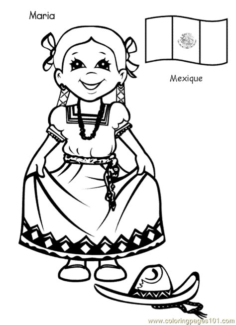Children Around The World Coloring Pages Coloring Home Printable Coloring Pages Around The World