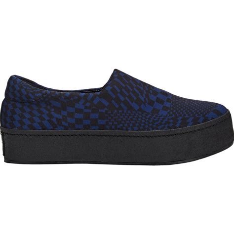 checkered sneakers lyst opening ceremony checkered slip on platform