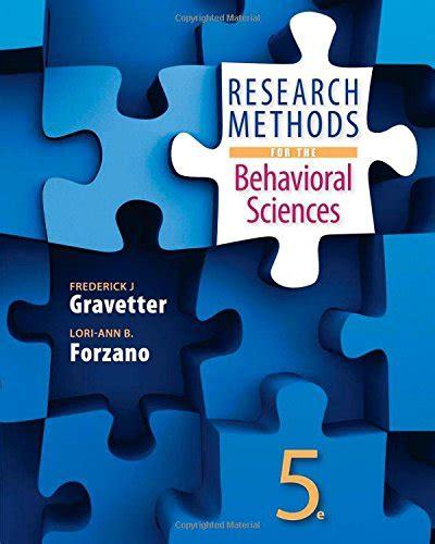 research methods for the behavioral sciences research methods for the behavioral sciences health book
