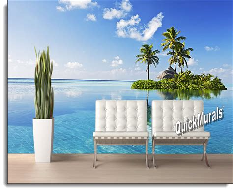 stick on wall mural paradise island peel and stick wall mural