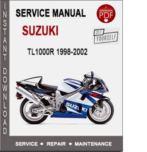 Suzuki Repair Manual Pdf Suzuki Tl1000r 1998 2002 Service Repair Manual Pdf Manual