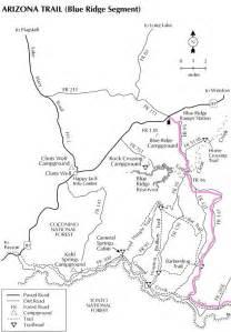 arizona forest road map mogollon road scenic drive forest road 300 near
