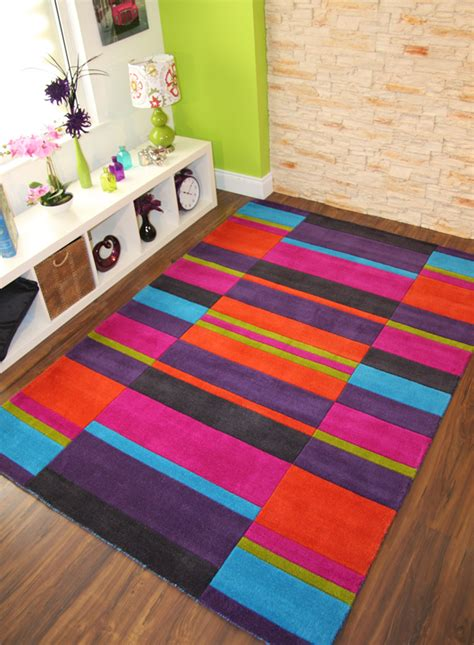 lime green and pink rug multi colour pink purple blue lime green orange thick handmade wool small xl rug