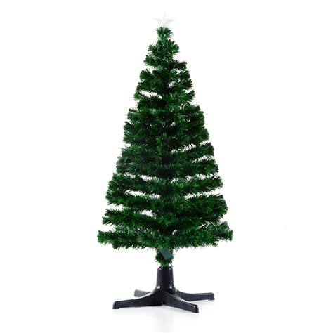 rotating christmas tree stand for 9 ft tree homcom 7 artificial decoration light up tree green