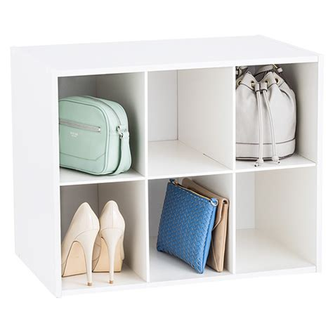 shoe and purse storage 6 section shoe purse organizer the container store