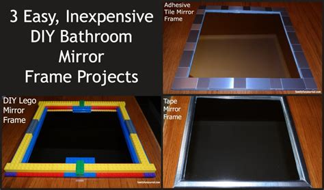 diy frame around bathroom mirror three diy bathroom mirror frames family fun journal