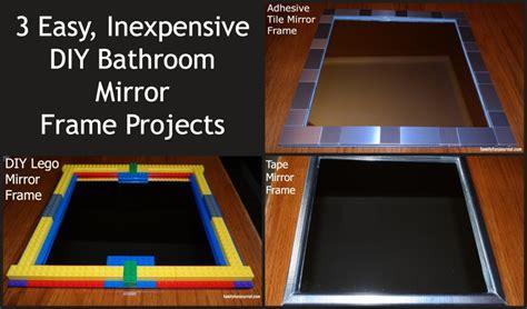 Three diy bathroom mirror frames family fun journal